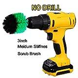 OxoxO Drill Brush - Round Bohrmaschine Attachment Mittel Steifheit Scrubbing Scrub Reinigungsbürste für die Reinigung von Badezimmer, Fliesen und Fugen, Duschen, Teppich, Reifen, Boote