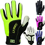 Fitness Handschuhe Maxi - Grip, Fitnesshandschuhe, Trainingshandschuhe, Bodybuilding Handschuhe Vollfinger, C.P. Sports (M, Schwarz)