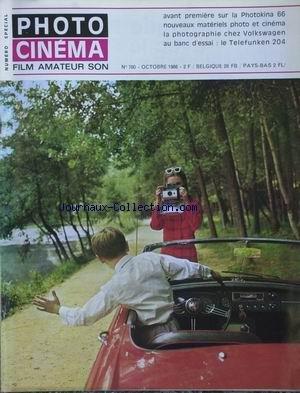 PHOTO CINEMA [No 780] du 01/10/1966 - LA PHOTOKINA 66 - VOLKSWAGEN - TELEFUNKEN 204. par Collectif