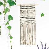 Makramee Wandbehang Wandteppich, IMEI handgefertigt Baumwolle Kordel Boho Chic Wand Art Decor groß 83,5cm Hochzeit Hi