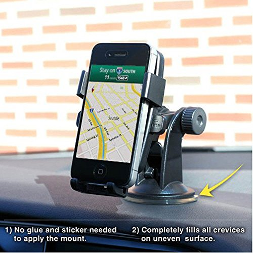 inShang Supporto Auto Smartphone Innovazione One-Touch blocco automatico, Porta Cellulare Stand da Tavolo Holder, Supporti, Culla GPS Tachigrafo per Apple iPhone 7 / 7plus, 6 / 6Plus etc., Samsung G black