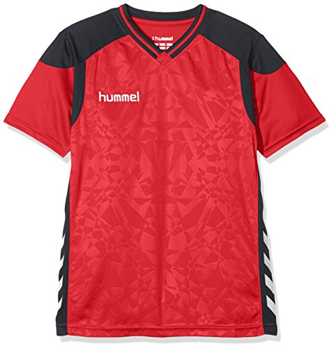 Hummel Kinder Sirius Short Sleeve Jersey Trikot, True Red, 140-152