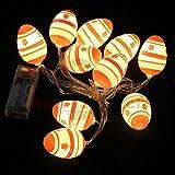 10 LED Ostereier Lichterkette LED Licht Dekoration Ostern Osterhase Küken Osterstrauß Oster Deko Schmuck