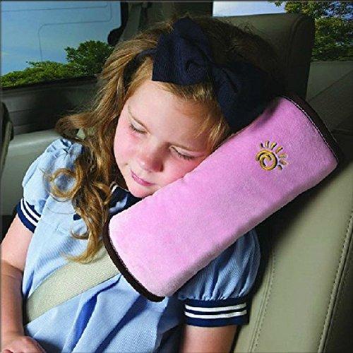 Preisvergleich Produktbild CYBERNOVA Autofahrzeug Seat Gürtel Harness Schulter Pad Cover Kissen Kissen für Kinder Baby Kopf Support schlafen während der Reise (rosa)