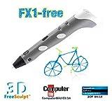 FreeSculpt 3D Druckerstift: 3D-Pen Drucker-Stift für Freihand-3D-Zeichnungen FX1-free (3D Handdrucker)