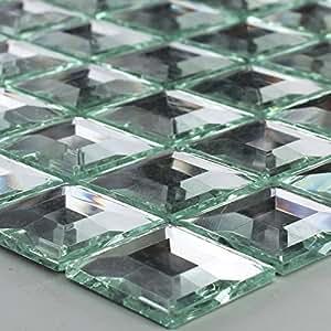 Vetro mosaico piastrelle 3d effetto specchio mosaico argento spei gelm osaik fai da te - Specchio mosaico vetro ...