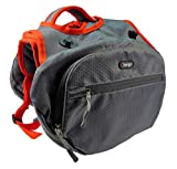 iEnergy MAE Hunderucksack - 2in1 Geschirr und Abnehmbarer Rucksack für Hunde - Wetterfest und inklusive Zwei Trinkflaschen mit Thermotaschen (Groß)