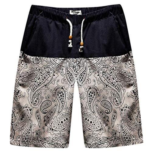 Herren Badehose Strand Shorts Neu 2019 Boho Hawaii Oversize Badepant Bequem Freizeit die Wellen Farbe Kordelzug Baumwolle & Polyester Daysing