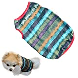 Veena My House 2018 Dog Summer Multicolor Strip Vest Ventilation Pet Tshirt Feb23 A M