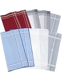 Betz lot surprise de 10 mouchoirs pour homme en 100% coton taille 40x40 cm à 45x45 cm