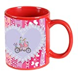 Printland Be My Ride Valentine day Red Coffee Mug 350 - ml PMR5042 best price on Amazon @ Rs. 299
