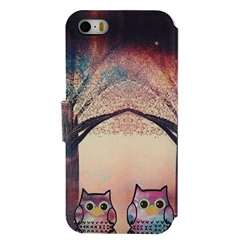 For IPHONE 5S/SE[COLORFUL PU DDUD]Fashion Cute Magnetic Snap Wallet Card Flip Synthetic Holster Leather Stand With TPU Case Cover -DD06 DD07