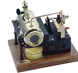 Wilesco D4 Modelo de máquina de Vapor - Artículos para diseño de maquetas (Modelo de máquina de Vapor, Previamente montado, Latón, Latón, Pulido, Cromo)
