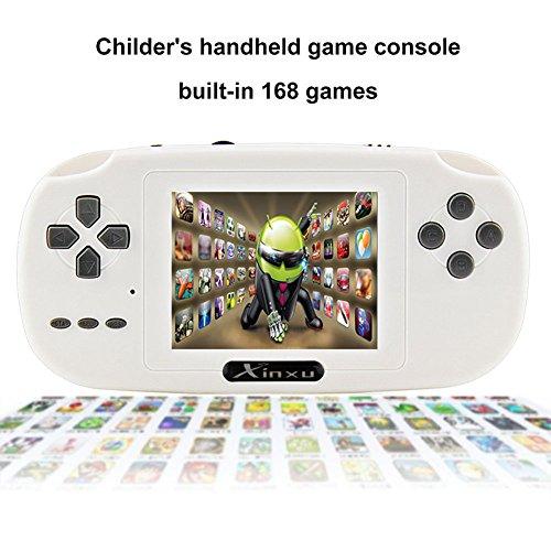Game Console XinXu 2.8 Pollice LCD Plus Ricaricabile Gioco Portatile Game Handheld Costruito nel 168 Gioco come Regalo per Bambini Amici Bianca [video game]