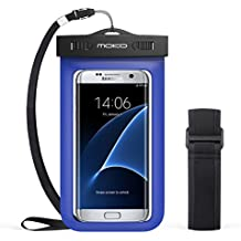 MoKo Funda Impermeable - Waterproof Brazo y Cuello Compatible para iPhone 7/ 7 Plus/ iPhone 6s/ 6s Plus/ Galaxy S7/ S7 Edge/ P7 P8 P9 y Smartphone 5.7 Pulgadas - IPX8 Certificado, Azul