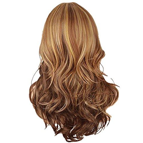 L-peach 66cm riccia capelli parrucca lunga ondulata bionda da donna per il travestimento partito cosplay halloween natale