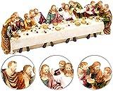 PEARL Osterdekos: Deko-Abendmahlszene aus Polyresin, mit 13 handbemalten Figuren (Das letzte Abendmahl aus Resin)