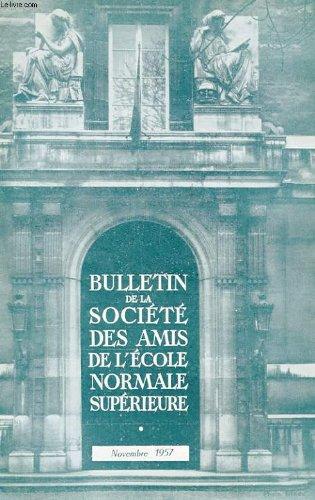 Bulletin de la societe des amis de l'ecole normale superieure - 38e annee - n° 80