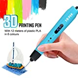3D Drucker Stift Set, 3D Stift Set mit LCD-Bildschirm, 3D Stereoscopic Printing Pen Drawing, 3D Druckstift mit 1.75mm PLA Filament für Kinder, Erwachsene, Kritzelei, Zeichnung und Kunst & handgefertigte Werke