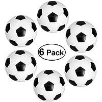 YeahiBaby Reemplazos de pelotas de fútbol de mesa de mesa 32mm Bolas FoosBall pequeñas de color negro/blanco - Set de 6