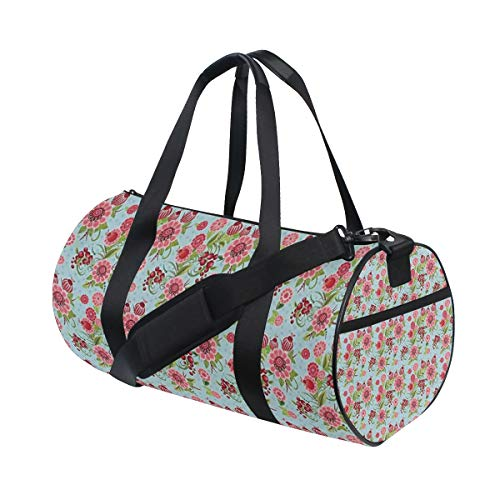 Flower Essential Tote Bag (Soloatman Flower Gym Bag for Men and Women - Sports Duffle Great for Workout Crossfit and Fitness)