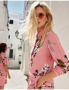 Vila Camisa Rosa Floral VIBIRDO de Clothes