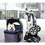 IbiyayaExpress Travel System Denim Pet Stroller 14