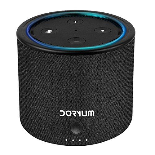 Echo Dot 2 Batterie Ladegerät, Doryum 10000mAh Power Bank Portable Akku für den 2. Generation Echo Dot - Schwarz