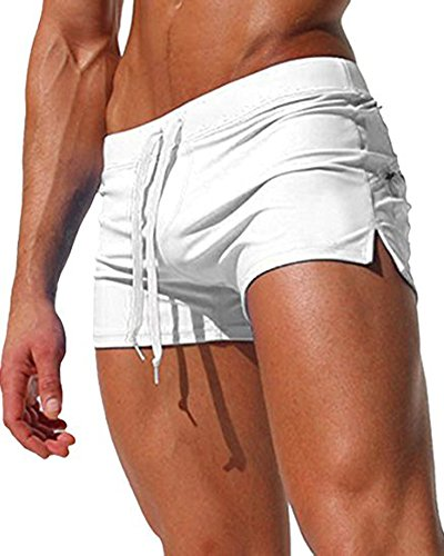 b295d30c1e4d2 Gfirmament Mens Swim Trunks Pants Swimwear Shorts Slim Wear With Zipper  Pocket (XXL