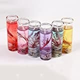 KaariFirefly Romantische Glasflaschen Ocean-Design Rauchfreier Jelly Gel Wachs-Kerzen