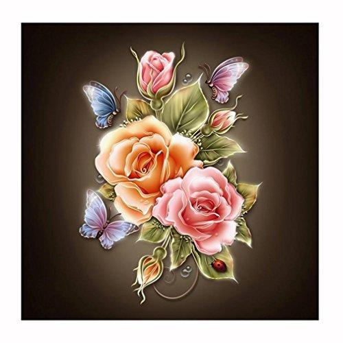 Ouneed® kreuzstich Cross-Stitch , Muttertag Flower Embroidery Paintings Rhinestone Pasted DIY Diamond painting Cross Stitch (B)