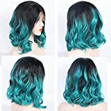 ZeroBlizzard Short Blue Ombre Wig Synthetic Lace Front - Best Reviews Guide