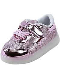 Bebé niño niña LED estrella zapatillas con luces ,Yannerr Chica Chico luminoso pequeño colorido ligeros deporte Running llevó zapatos
