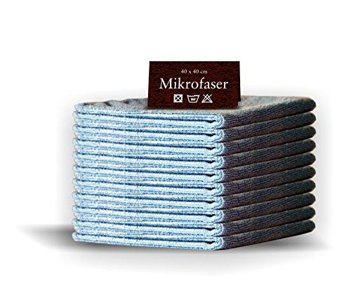 20 x Mikrofasertücher BLAU 40 x 40cm Profiqualität Gastro Microfasertuch