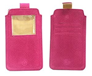 Jo Jo A10 Exotic Pink Leather Carry Case Pouch Wallet S View For Asus PadFone Infinity Pink