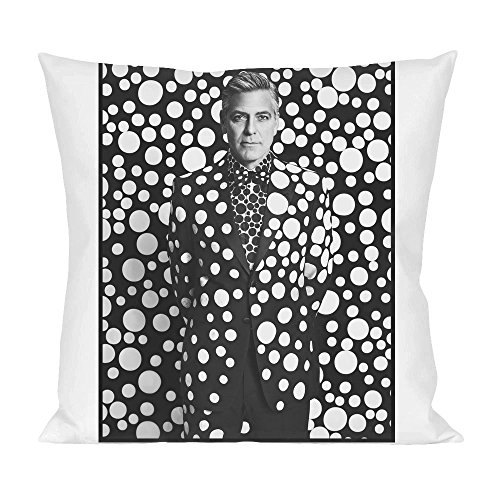 George Clooney Dot Pillow (Shirt White Tuxedo)