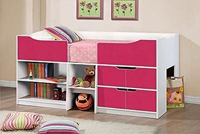 Happy Beds Paddington Cabin Bed Storage Drawers Kids Children - cheap UK light shop.