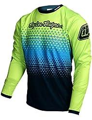 Troy Lee Designs Kids Bike de jersey Sprint Star Burst–Flo Amarillo, amarillo