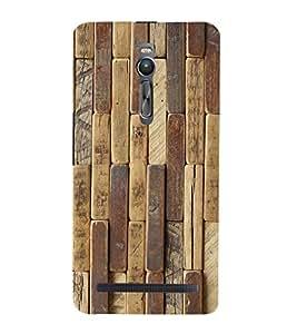 PrintVisa Wooden Texture Pattern 3D Hard Polycarbonate Designer Back Case Cover for Asus Zenfone 2 ZE551ML
