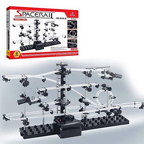 (CX TECH Pacerail Perpetual Achterbahn Stufe 2 Marmor Achterbahn Run DIY Track Build Kit Weltraumbahn Track Brain Game)