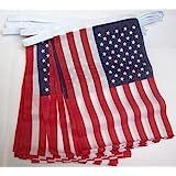 AZ FLAG Guirnalda 4 Metros 20 Banderas de los Estados Unidos 15x10cm - Bandera Americana - USA - EE.UU 10 x 15 cm - BANDERINE