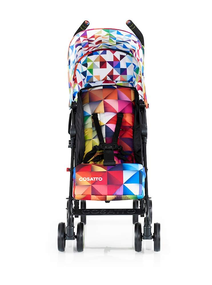 Cosatto Supa Go Stroller (Spectroluxe), suitable from birth, 7 kg Cosatto Compact from-birth pushchair, carries up to 25kg child, so you can use it for longer This storage superstar is a transport-friendly compact umbrella folder and fits in smaller cars Upf100+ extendable hood plus rain cover 5