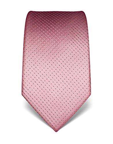 Vincenzo Boretti Herren Krawatte aus reiner Seide, gepunktet rosa