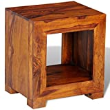 vidaXL Beistelltisch Nachttisch Kaffeetisch Massivholz Sheesham 37×29×40 cm