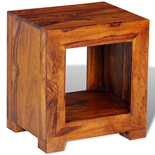 vidaXL Table Basse d'appoint en Palissandre Massif avec étagère 37 x 29 x 40 cm