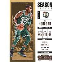 2017–18Dépasse Panini Season Ticket # 66AL Horford Boston Celtics Basketball carte