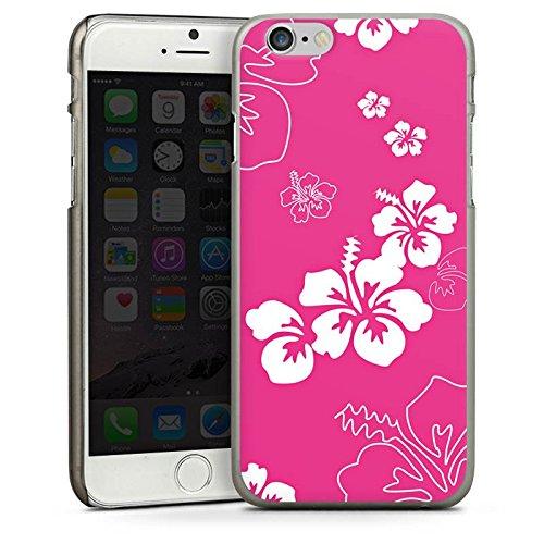 Apple iPhone 4 Housse Étui Silicone Coque Protection Fleur Fleur Fleur CasDur anthracite clair