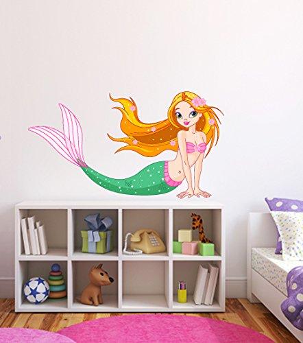 �-Niedliche Mädchen Raum Kinderzimmer Dekor Design-Abziehen und Aufkleben-Abnehmbare Wand Aufkleber 24