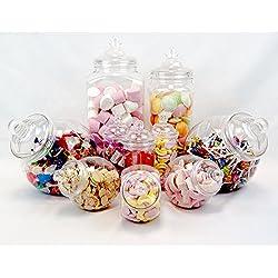 10 unidades de Tarros para chucherias - Diseño vintage Candy Bar