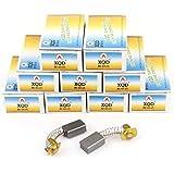 sourcingmap® 20pcs Perceuse Électrique Moteur Outil Électrique Brosses Carbone 17mm x 11mm x 7mm